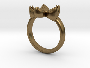 Kanzashi Ring in Natural Bronze: 4 / 46.5