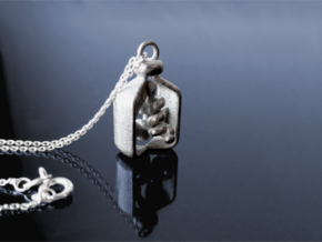 Vial of Insulin Charm - A treatment, not a cure. in Polished Nickel Steel