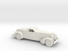 1/87 1935 Duesenberg Style Boattail in White Strong & Flexible
