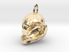 My Little Pony Skull! (Necklace charm) in 14k Gold Plated Brass