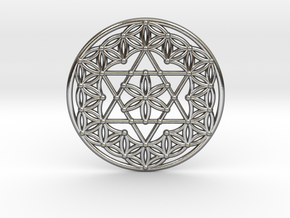 Flower Of Life - Merkaba in Polished Silver
