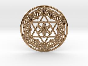 Flower Of Life - Merkaba in Polished Brass
