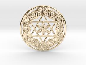 Flower Of Life - Merkaba in 14k Gold Plated Brass