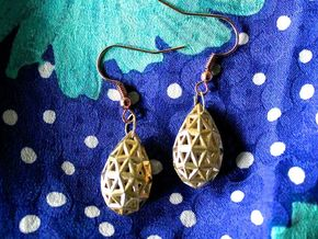 Drop Earrings in Natural Brass