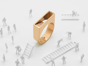 Stair Ring in Polished Bronze: 6.5 / 52.75