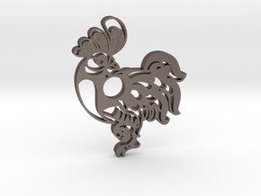 Chinese Symbol in Polished Bronzed Silver Steel