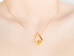 HIDDEN HEART Aurora, Pendant. Pure Elegance in 18k Gold