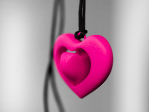 Rotating hearts in Pink Strong & Flexible Polished