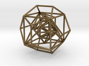 Nested Platonic Solids in Natural Bronze