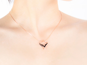 HEAD TO HEAD Matchless, Pendant in 14k Rose Gold Plated Brass