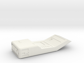 Medical Tricorder, Open (ST Next Generation), 1/6 in White Natural Versatile Plastic