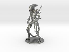 Xenomorph Miniature in Raw Silver: 1:60.96