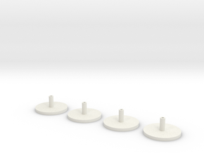 1/350 Scale HMS Hood Turrets Trumpeter Adapter in White Strong & Flexible