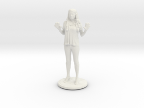 Printle C Femme 028 - 1/72  in White Strong & Flexible