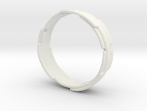 The Wrecking Crew Ring Size 8 in White Natural Versatile Plastic