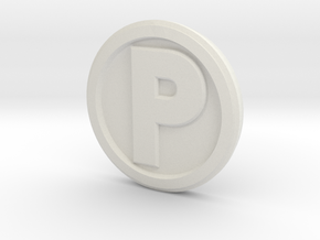 Printle Base (Round Med) 1 cm in White Strong & Flexible