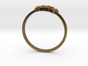 Crystallized Ring (all size 4-13) in Natural Bronze: 4 / 46.5