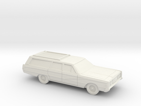 1/87 1965 Mercury Colony Park Station Wagon in White Natural Versatile Plastic