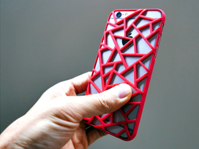 iPhone 6 / 6S case_Triangles in Red Strong & Flexible Polished