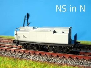 N Watertender NS slijptrein in Black Hi-Def Acrylate