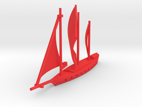 1/1000 Crimson Corsair Ship in Red Strong & Flexible Polished