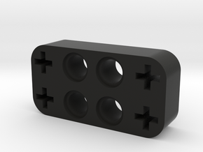Dobble Cross And Hole Beam in Black Natural Versatile Plastic