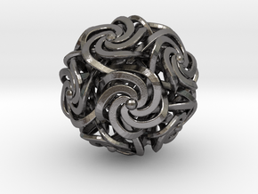 Dodecahedron W-Spirals 1.25inch in Polished Nickel Steel