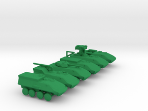 1/285 Scale LAV25 Set Of 6 in Green Strong & Flexible Polished