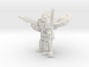 Gargoyle pose1 in White Strong & Flexible