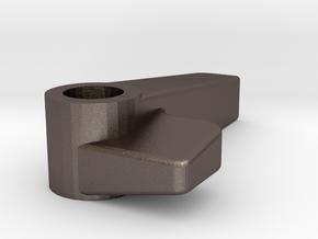 Knob-v09 Single Countersink in Polished Bronzed Silver Steel