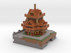Temple in Full Color Sandstone