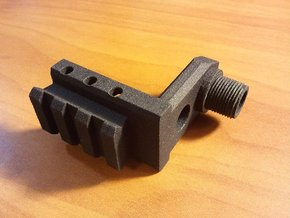 CZ 75 P-07 Duty Muzzle Adapter in Black Natural Versatile Plastic