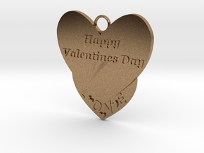 Valentine's Day Pendant in Natural Brass