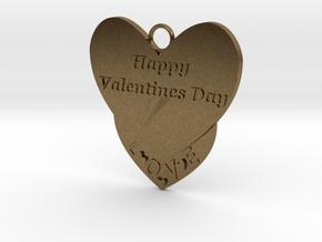 Valentine's Day Pendant in Natural Bronze