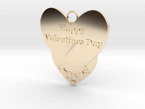 Valentine's Day Pendant in 14K Yellow Gold
