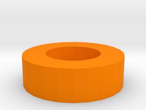 Nerf Muzzle to Airsoft Inner Barrel Stabilizer in Orange Processed Versatile Plastic