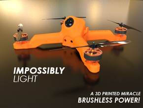 Fusion Micro FPV Frame 114 Femto FC Edition in Orange Processed Versatile Plastic