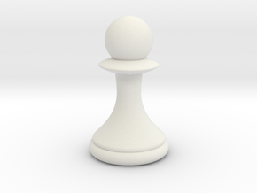 Pawns with Hats - Pawn in White Strong & Flexible