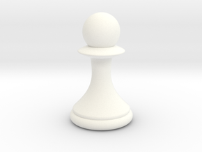 Pawns with Hats - Pawn in White Strong & Flexible Polished