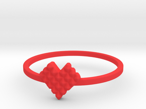 Crystallized Heart Ring (4-12) in Red Processed Versatile Plastic: 3 / 44