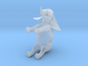 3D Africa Elephant in Smooth Fine Detail Plastic
