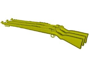 1/10 scale Mauser Karabiner K-98k Kurz rifles x 3 in Smooth Fine Detail Plastic