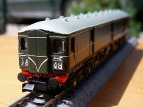 N Scale (1:148) Class 128 Gloucester Parcels Body in Frosted Ultra Detail