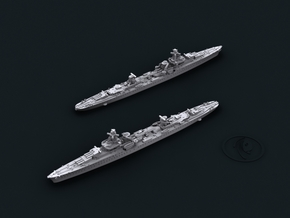 French CL Emile Bertin [1942; pre-US refit] in Smooth Fine Detail Plastic: 1:2400