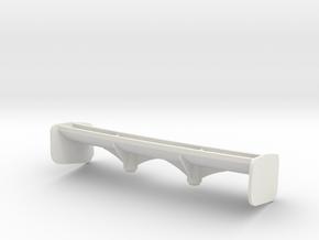 Aileron Mc Laren 12C moyen appui Aéro in White Natural Versatile Plastic