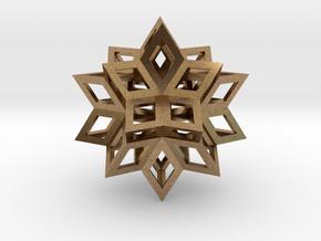 Rhombic Hexecontahedron (Precious Metals) 1.4 in Natural Brass