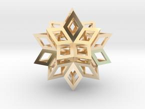Rhombic Hexecontahedron (Precious Metals) 1.4 in 14K Yellow Gold