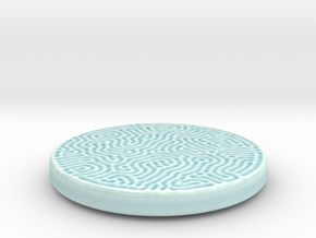 Reaction Coaster in Gloss Celadon Green Porcelain: Small