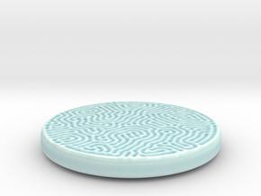 Reaction Coaster in Gloss Celadon Green Porcelain: Small