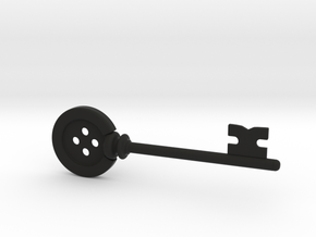 Coraline Button Key in Black Strong & Flexible